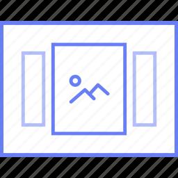 image, lightbox, style, ui, web, wireframe icon