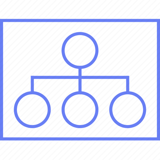 chart, organisational, style, ui, web, wireframe icon