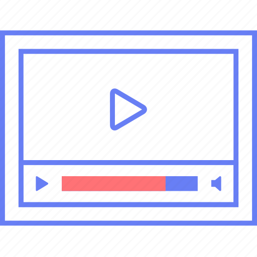 controls, media, play, ui, volume, web, wireframe icon