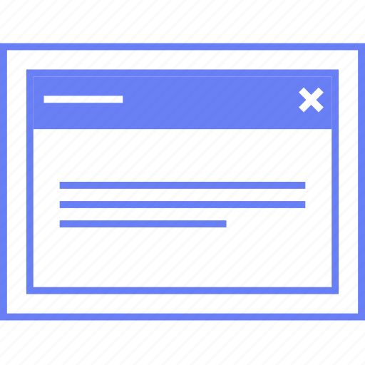 info, popup, style, ui, web, wireframe icon