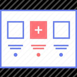 add, style, thumb, ui, web, wireframe icon