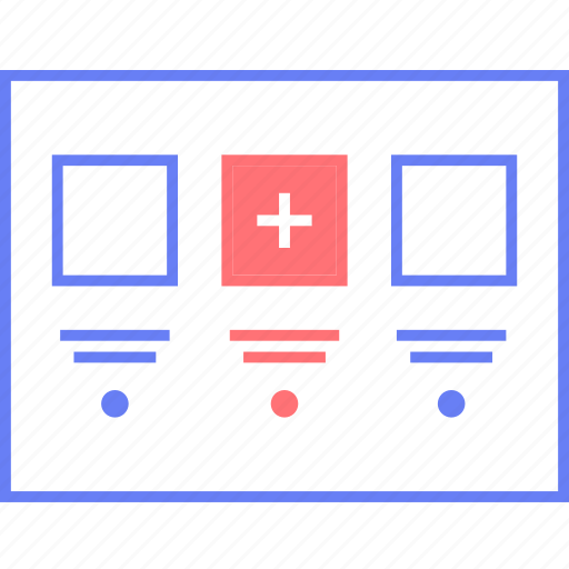 add, style, thumb, ui, web, wireframe icon