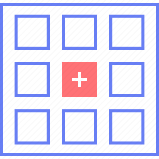 add, grid, style, thumb, ui, web, wireframe icon