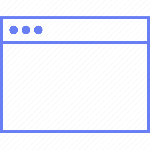 blank, browser, style, ui, web, wireframe icon