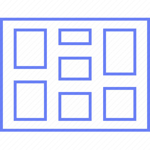 column, layout, page, split, ui, web, wireframe icon