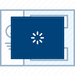loading, page, style, ui, web, wireframe icon