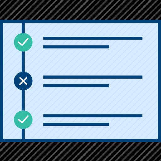 checklist, style, ui, web, wireframe icon