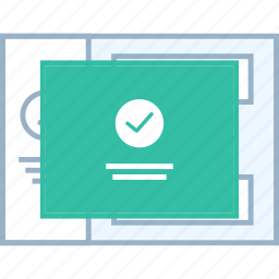 popup, style, success, ui, web, wireframe icon