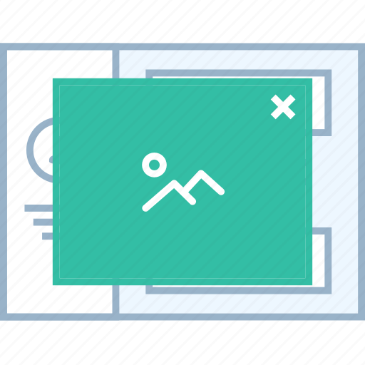 image, popup, style, ui, web, wireframe icon