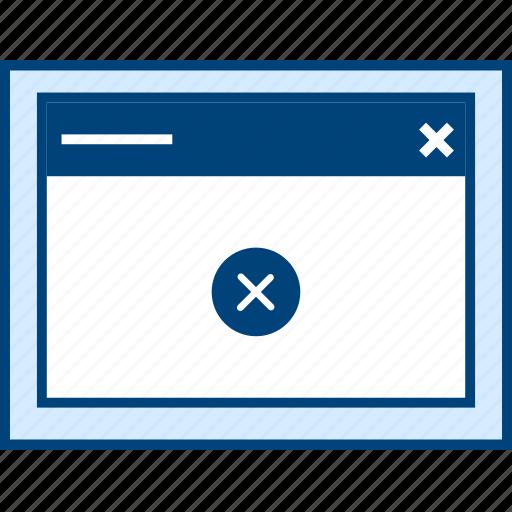 delete, style, ui, web, window, wireframe icon