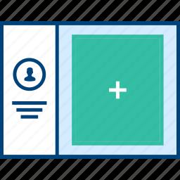 add, info, style, ui, web, wireframe icon