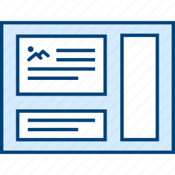 layout, page, style, ui, web, wireframe, with icon