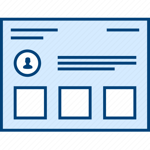 Card, style, ui, user, web, wireframe icon - Download on Iconfinder