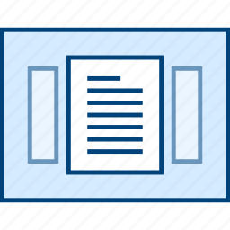 document, style, ui, view, web, wireframe icon