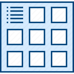 grid, info, style, thumb, ui, web, wireframe icon