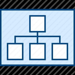 chart, organisational, style, ui, web, wireframe icon