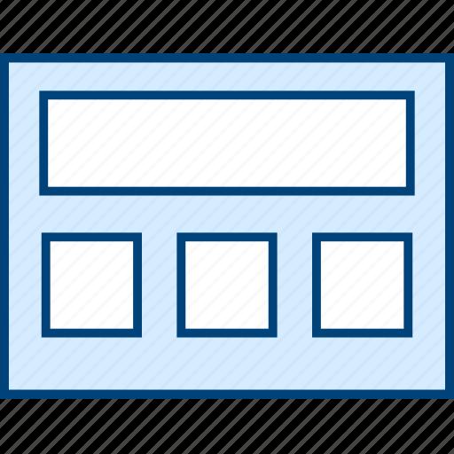 grid, header, layout, style, ui, web, wireframe icon