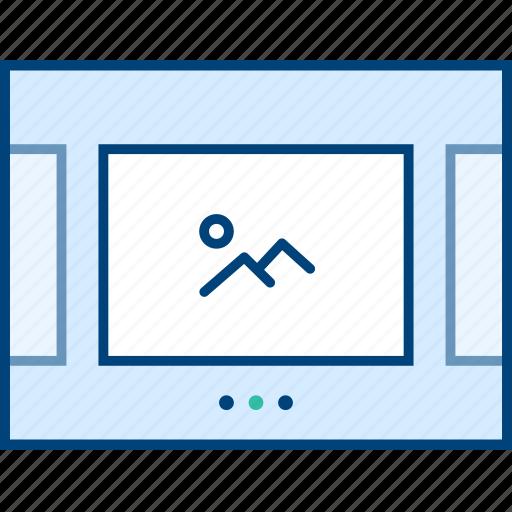 image, slider, style, ui, web, wireframe icon