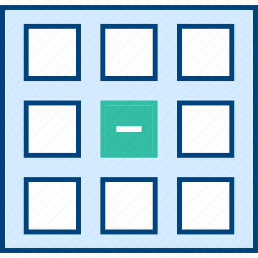 delete, grid, style, thumb, ui, web, wireframe icon