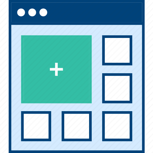 Add, media, style, ui, web, wireframe icon - Download on Iconfinder
