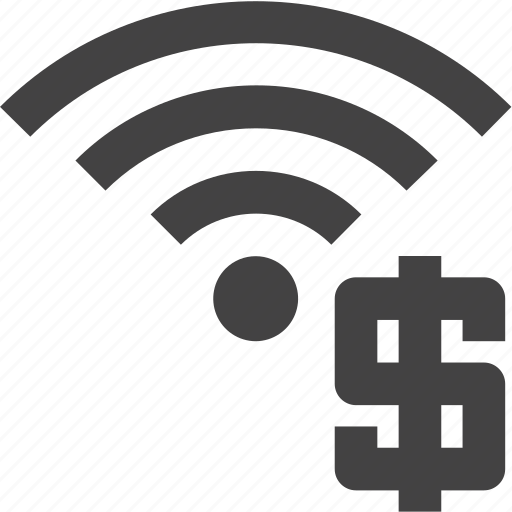 currency, signal, wifi, wireless icon