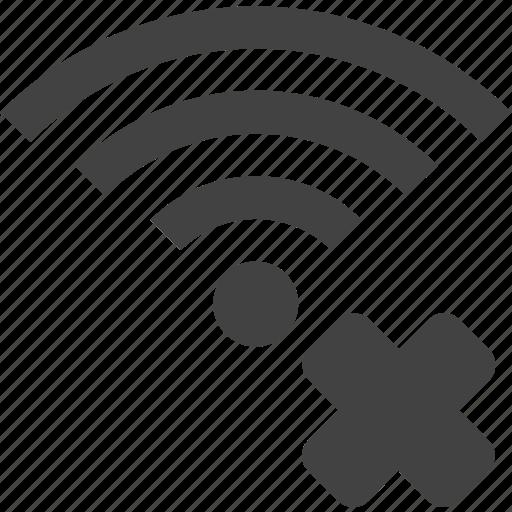 delete, signal, wifi, wireless icon