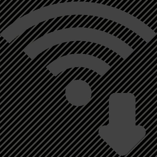 download, signal, wifi, wireless icon
