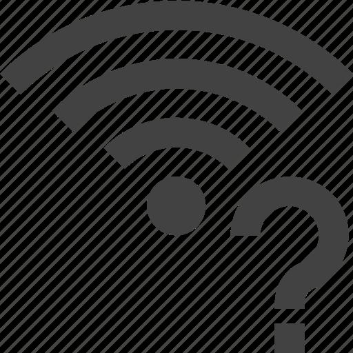 question, signal, wifi, wireless icon