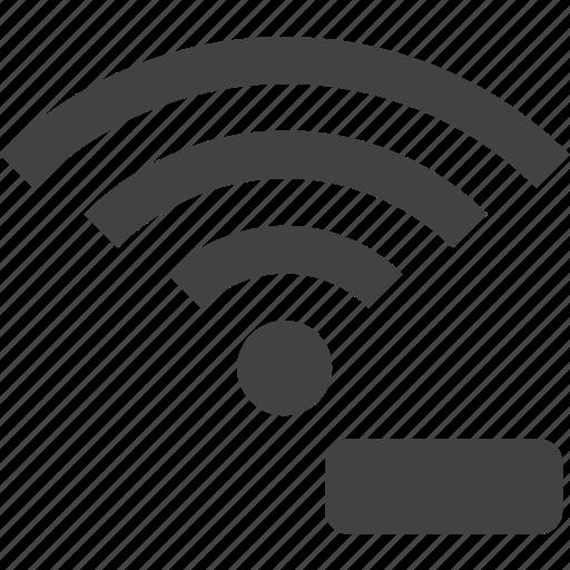 remove, signal, wifi, wireless icon