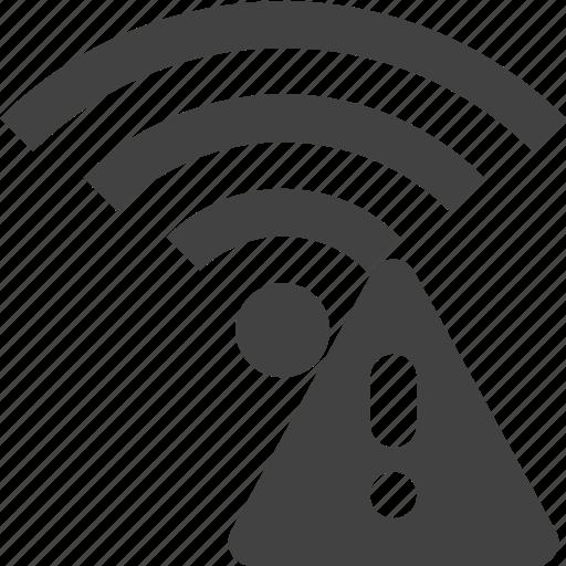 signal, warning, wifi, wireless icon