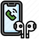 call, smartphone, earbuds, headphone, device