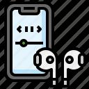 earbuds, headphones, electronics, device, smartphone, wireless