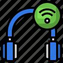 headphones, wireless, music, connected, earphones