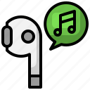 music, earbuds, electronics, device, earphones, wireless