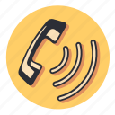 call, device, phone, ring, signal icon