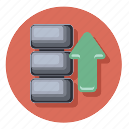 data, extension, file, storage, upload icon