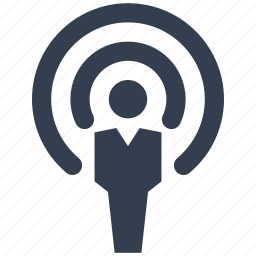 antenna, communication, connection, man, network, people, person, wi-fi, wireless icon