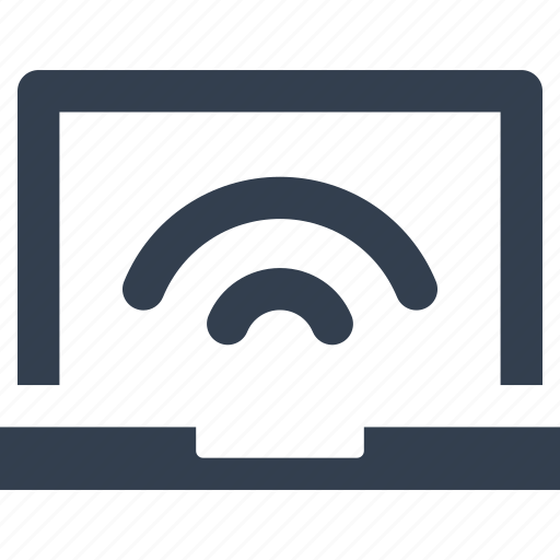 communication, computer, connection, internet, laptop, mobile, network, notebook, technology, wave, wi-fi, wireless icon
