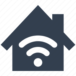 antenna, home, house, internet, network, rss, wi-fi, wireless icon
