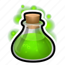 bulb, flask, magic, poison, potion, spell, witch
