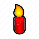 candle, fire, magic, spell, witch, worship icon