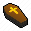 coffin, cross, dead, heaven, magic, undead icon