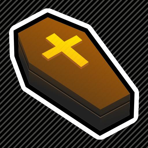 coffin, cross, dead, heaven, magic, undead icon