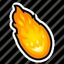 asteroid, fire, fireball, magic, meteor, power, spell