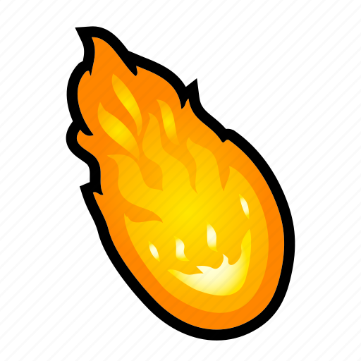 asteroid, fire, fireball, magic, meteor, power, spell icon