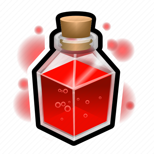 flask, healing, magic, potion, spell, square, witch icon