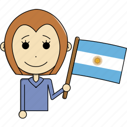 argentina, avatar, character, country, face, flags, woman icon