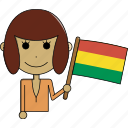 avatar, bolivia, character, country, face, flags, woman icon