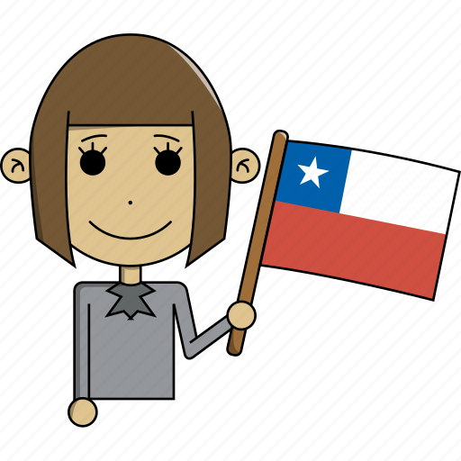 avatar, character, chile, country, face, flags, woman icon