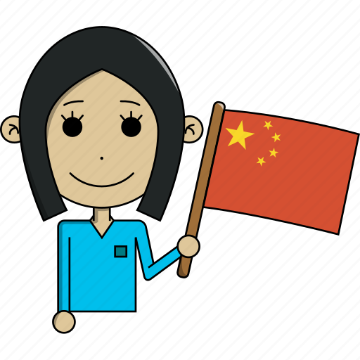 avatar, character, china, country, face, flags, woman icon